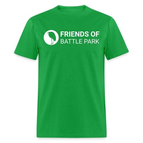 Friends of Battle Park - Small White Logo - Men's T-Shirt