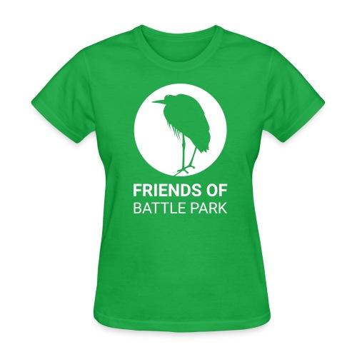 Friends of Battle Park - Large White Logo (Women) - Women's T-Shirt