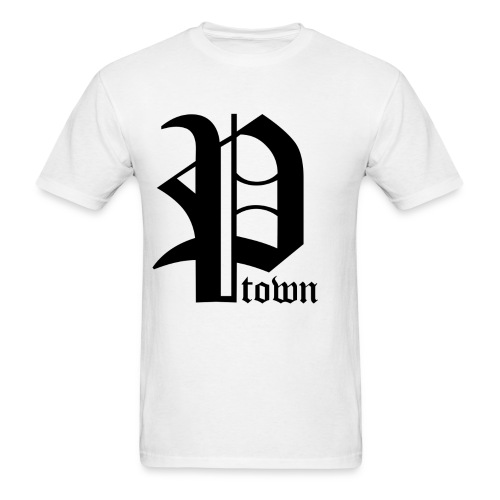 P-Town T-Shirt - Black on White - Men's T-Shirt