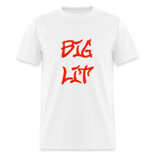 Big Lit T-Shirt - Red on White - Men's T-Shirt