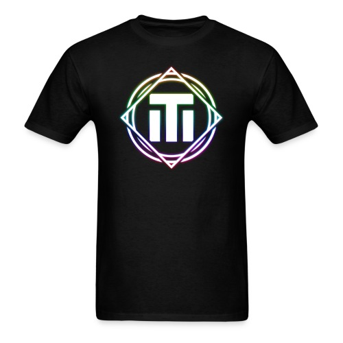 Big Rainbow Logo Black T-Shirt - Men's T-Shirt