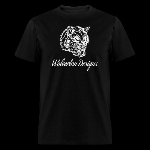 Wolverton Designs White Logo (MALE) - Men's T-Shirt
