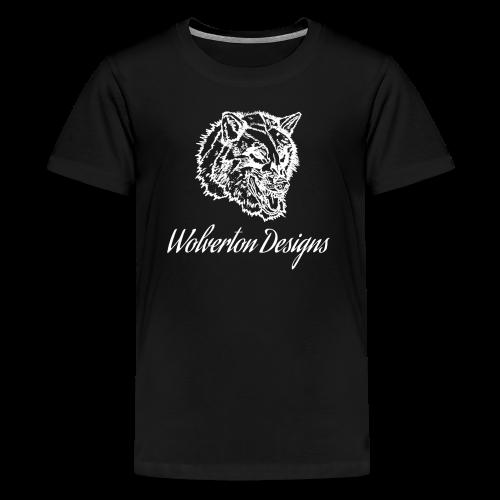 Wolverton Designs White Logo (KIDS) - Kids' Premium T-Shirt