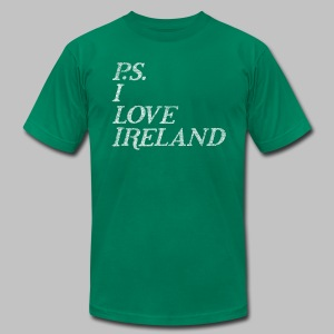 P.S. I Love Ireland - Men's T-Shirt by American Apparel