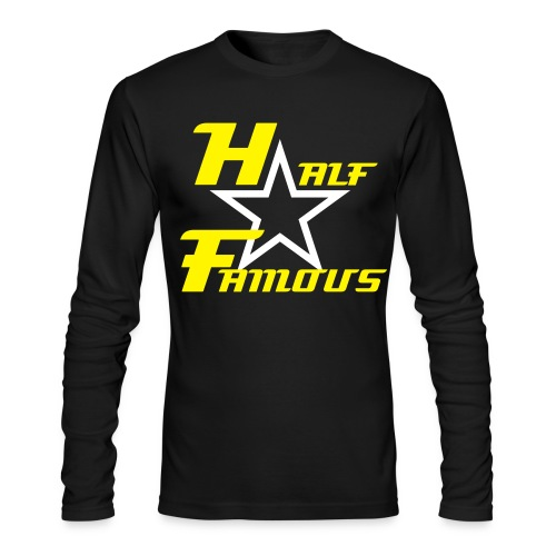 Mens Long Sleeve Half Famous Shirt - Men's Long Sleeve T-Shirt by Next Level