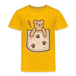 Bear_in_the_Pocket - Toddler Premium T-Shirt