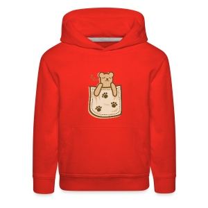 Bear_in_the_Pocket - Kids' Premium Hoodie
