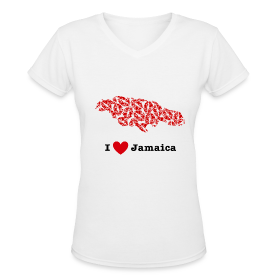 I Love Jamaica V-Neck ~ 617