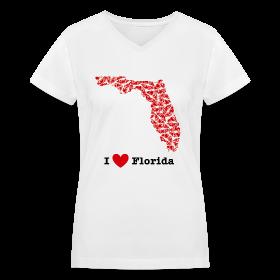 I Love Florida V-Neck ~ 617
