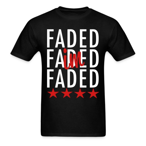 Faded T-Shirt (Black) - Men's T-Shirt