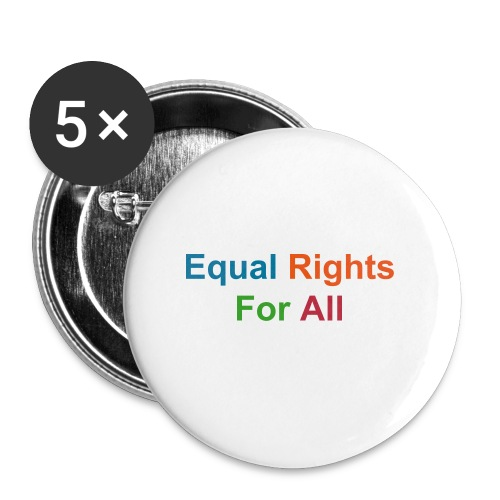 Equal Rights Buttons - Large Buttons