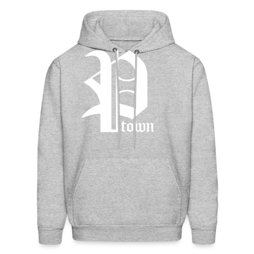 P-Town Sweatshirt - White on Grey - Men's Hoodie