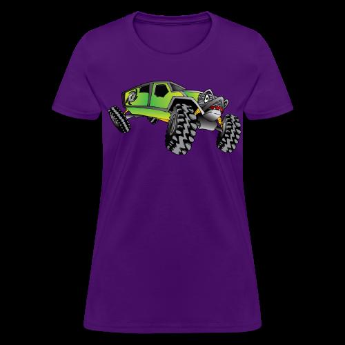 Cartoon Off-Road Monster Truck - Women's T-Shirt