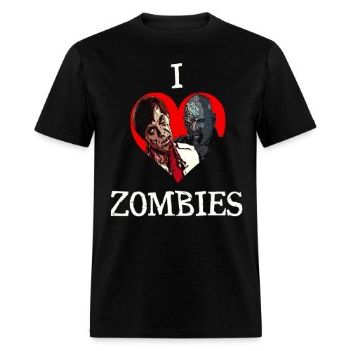 I Love Zombies T-Shirt - Men's T-Shirt