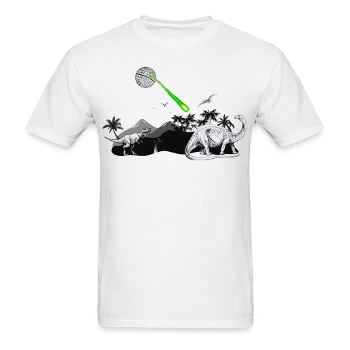 Dinosaur Extinction by Death Star - Men's T-Shirt