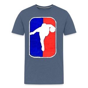 Cream Biggums Stepback Logo - Men's Premium T-Shirt