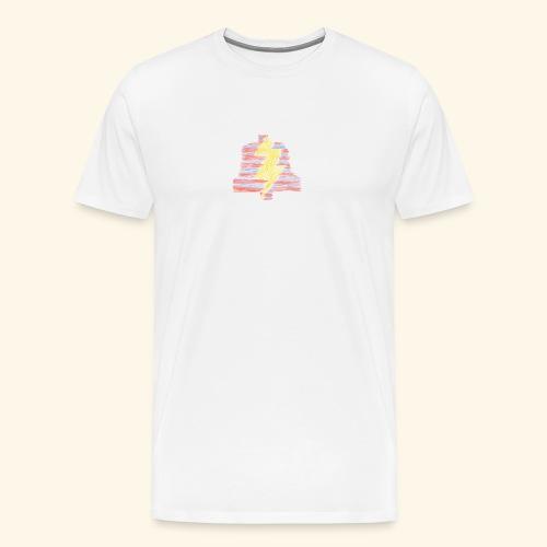 PLa stripe logo (premium) - Men's Premium T-Shirt