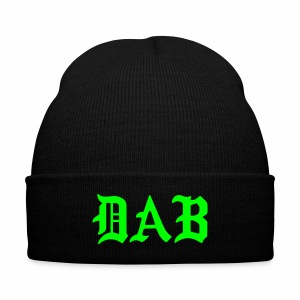 DAB Knit Cap - Knit Cap with Cuff Print