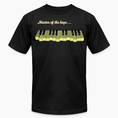 Piano keyboard swinging with 10 blacks - PIXEL T-Shirts