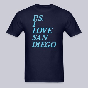 P.S. I Love San Diego - Men's T-Shirt