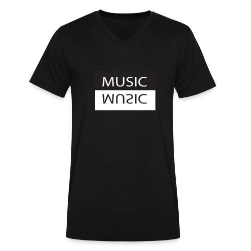 Music V-Neck T-Shirt - Men's V-Neck T-Shirt by Canvas
