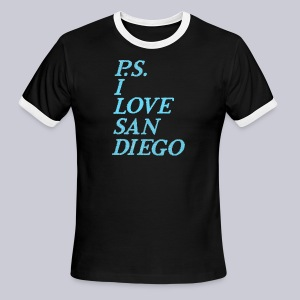 P.S. I Love San Diego - Men's Ringer T-Shirt