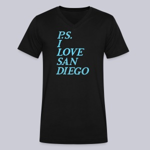 P.S. I Love San Diego - Men's V-Neck T-Shirt by Canvas