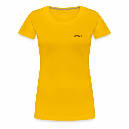 Womens Detour Word (Front Only) - Women's Premium T-Shirt