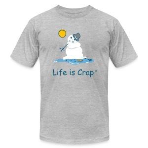 Melting Snowman - Mens Tee by American Apparel - Men's Fine Jersey T-Shirt