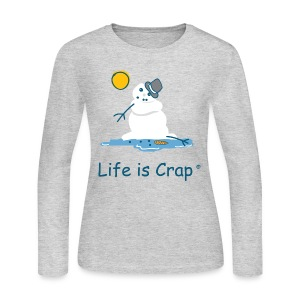 Melting Snowman - Womens Longsleeve Tee - Women's Long Sleeve Jersey T-Shirt