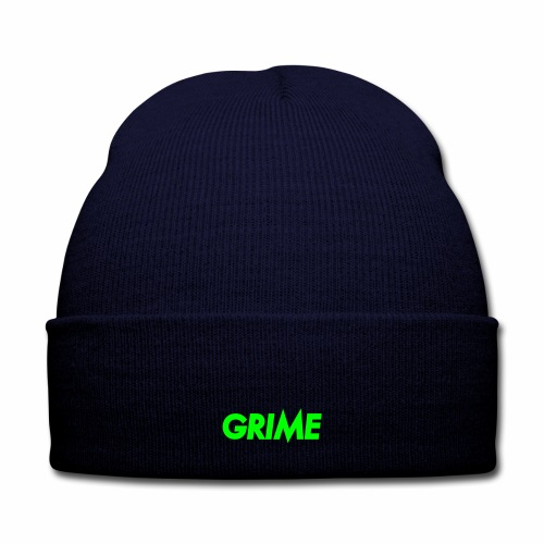Grime Beanie - Knit Cap with Cuff Print