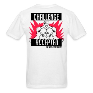 Challenge Accepted | Mens Tee (Back Print)  - Men's T-Shirt