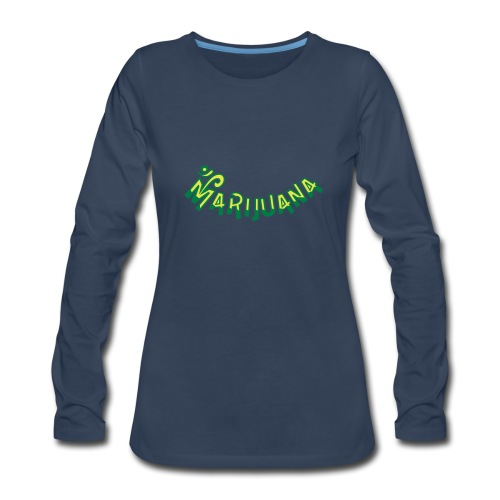Om Marijuana - Women's Premium Long Sleeve T-Shirt