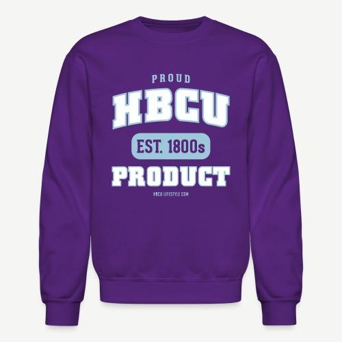 Proud HBCU Product - Women's Sky Blue, Ivory, and Purple Sweatshirt - Crewneck Sweatshirt