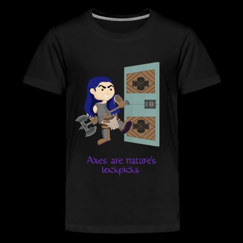 Axes are nature's lockpicks t-shirt - Kids' Premium T-Shirt