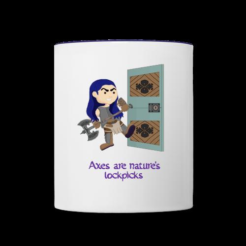 Axes are nature's lockpicks two tone mug - Contrast Coffee Mug