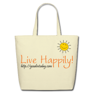 Bags & backpacks ~ Eco-Friendly Cotton Tote ~ Live Happily!