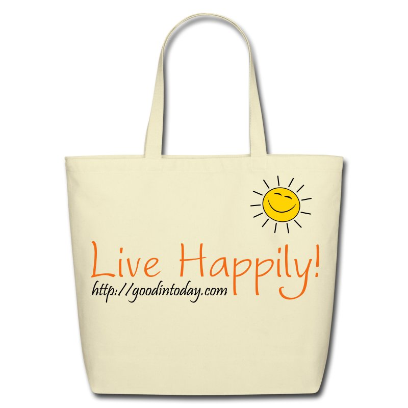 Live Happily! - Eco-Friendly Cotton Tote