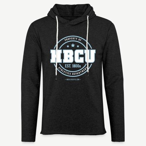 HBCU Athletics Dept. - Unisex Ivory and Sky Blue Terry Light Weight Hoodie - Unisex Lightweight Terry Hoodie