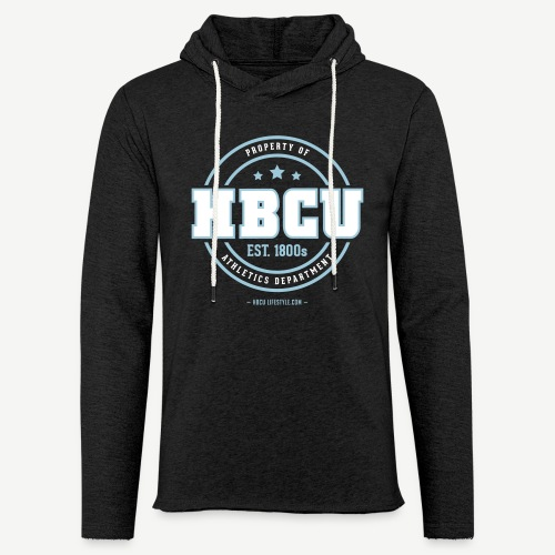 HBCU Athletics Dept. - Unisex Ivory and Sky Blue Terry Light Weight Hoodie - Unisex Lightweight Terry Hoodie