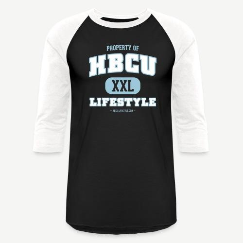 HBCU Lifestyle - Men's Sky Blue, Ivory, and Black Baseball T-Shirt - Baseball T-Shirt