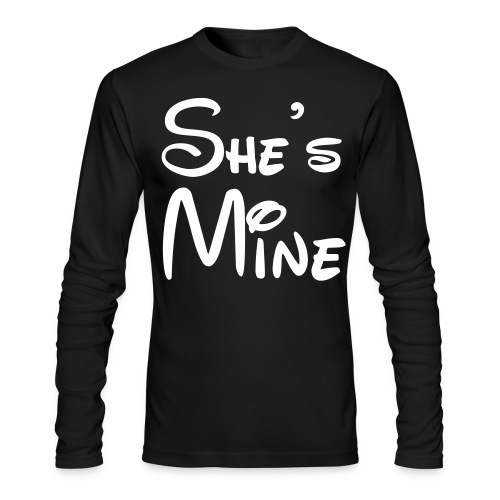 she's mine - Men's Long Sleeve T-Shirt by Next Level
