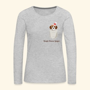 Christmas Beagle in Pocket - Women's Premium Long Sleeve T-Shirt
