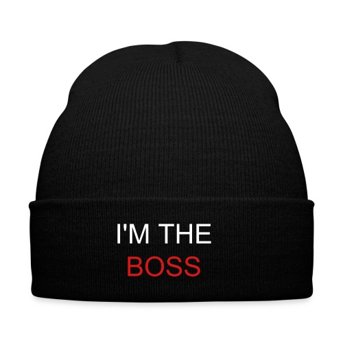 I'M THE BOSS - Knit Cap with Cuff Print