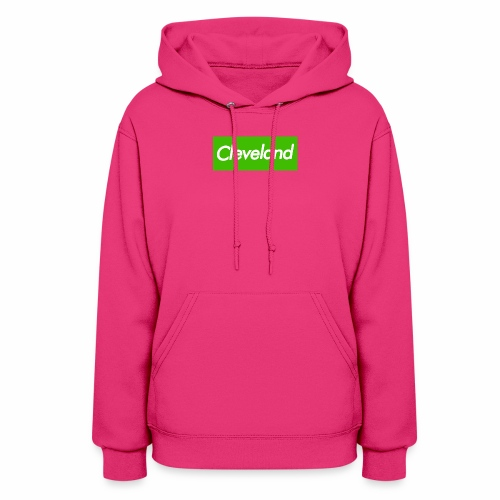 LAND Cleveland Lime Box Logo - Women's Hoodie