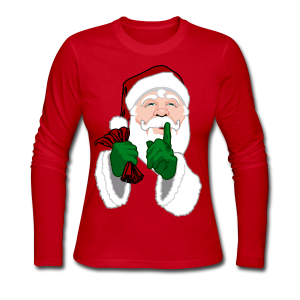 Santa Clause Shirts Women's Christmas Shirts - Women's Long Sleeve Jersey T-Shirt