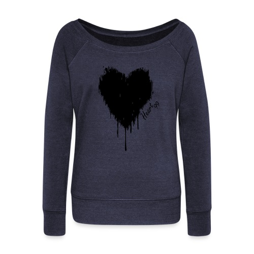 Dripping Heart99 Blue Sweat - Women's Wideneck Sweatshirt
