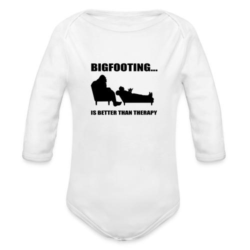 Bigfooting Therapy Long Sleeve Baby Bodysuit - Organic Long Sleeve Baby Bodysuit