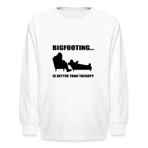 Bigfooting Therapy Kids' Long Sleeve T-Shirt - Kids' Long Sleeve T-Shirt