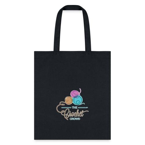 Crochet Crowd Yarn Tote - Full Logo with Balls - Tote Bag